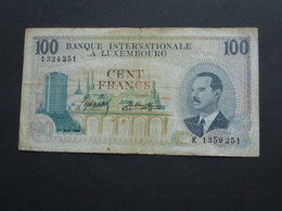 LUXEMBOURG - 100 Francs 1968 - Banque Internationale à Luxembourg    **** EN  ACHAT IMMEDIAT  **** - Luxembourg