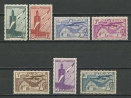 MAROC 1939 PA N° 43/49 ** Neufs MNH Superbes C 5.85 € Oiseaux Birds Avions Planes - Aéreo
