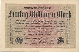 ALEMANIA  50 MILLIONEN MARK  01-09-1923  BUEN ESTADO - Unclassified