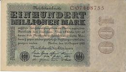 ALEMANIA  100 MILLIONEN MARK  22-08-1923  BUEN ESTADO - Unclassified