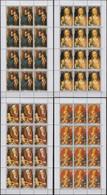 Cook Islands 11.11.1988 SHEETS Mi # 1264-67 Christmas, Madonna Paintings By Albrecht Dürer MNH OG - Madonna