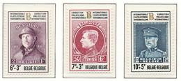 D - [150993]SUP//**/Mnh-N° 1631/33, Albert 1er (casqué, Montenez, Casquette), BELGICA 72, Exposition Philatélique Au Hey - Unused Stamps