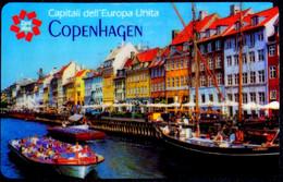 SCHEDA TELEFONICA CARDIDEA TELECOM 3 CAPITALI DELL'EUROPA UNITA - COPENHAGEN - Publiques Spéciales Ou Commémoratives