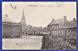 ***RARE CPA 59 TERDEGHEM - L'Eglise Et La Place - Other Municipalities