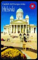 SCHEDA TELEFONICA CARDIDEA TELECOM 3 CAPITALI DELL'EUROPA UNITA - HELSINKI - Publiques Spéciales Ou Commémoratives