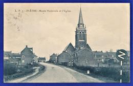 RARE CPA 59 FLÊTRE - Route Nationale Et L'Eglise - Altri Comuni