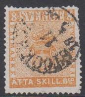 1855. SVERIGE. Skilling Banco. ÅTTA (= 8) SKILL. Bco. STOCKHOLM 11 5 1858  (Michel 4a) - JF423989 - Usati