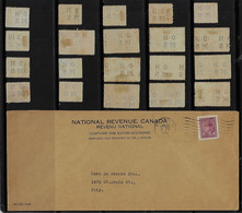 Canada 1946 CoverNational Revenue - Customs And Excise Divisionsperfin OH/MS On Her/His Majesty 's Service + 20 Stamp - Perfin