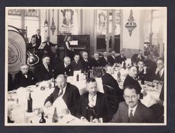 Photo Originale Jacquart Banquet Du Syndicat Des Vins Et Spiritueux D' Abbeville Grand Hotel De La Gare 1937 - Orte