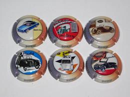 Série De 6 Capsules De Champagne Doury Philippe (série Micro Cars) News 2021 - Collezioni