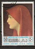 Ras Al-Khaimah 1968 - Fabiola With Red Headscarf; By Jean-Jacques Henner(1829-1905) - Giorno Della Mamma