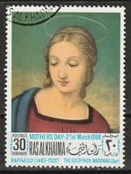 Ras Al-Khaimah 1968 - Madonna With The Goldfinch; By Raffaello (1483-1520) - Giorno Della Mamma
