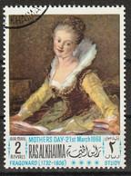 Ras Al-Khaimah 1968 - Reading Young Woman; By Jean Honoré Fragonard (1732-1806) - Giorno Della Mamma