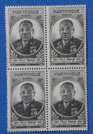 #1MARTINIQUE  BEAU BLOC DE 4 T.P NEUFS  1944 F EBOUE  BELLE GOMME ORIGINE - Blocks & Kleinbögen