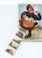1961 Postbode Met Brieventas Met Mini Postkaarten -  Groeten Uit St Idesbald - Bonjour De ... - Ed. Anc. A. Durr & Fils - Altri