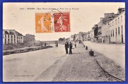 ***TRES RARE CPA 35 REDON - Quai Saint-Jacques Et Pont Sur La Vilaine - Redon