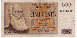 Billet 500 Francs   1952  Belgique - 500 Francs