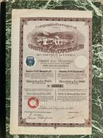Companhia  Portugaésa  Para  A  Construção E  Exploraçao  De  Caminhos De Ferro------- Obligation  De 90$ - Railway & Tramway