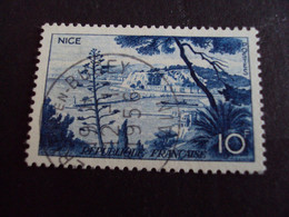 "1950-59 - Oblitéré N°   1038    ""   Nice   ""  ""   Ambérieu En Bugey  ""         - Net    0.40   Photo 1 - Usados"