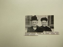 """Origineel Knipsel ( E 916 )  Uit Tijdschrift """" Ons Volk """"  1937 :  Guisson  /  Peters  -  Zellik - Sin Clasificación"""