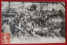 CPA  Abîmée - Les Grèves De Draveil Vigneux - La Journée Sanglante Du 30 Juillet - Campement De Troupes Dans Le Marché - Draveil