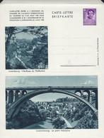 Luxembourg - Luxemburg -  Carte - Lettre  -  Briefkarte  -  Luxembg Le Pont Adolphe - Ville-Basse Du Pfaffenthal - Entiers Postaux