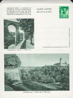 Luxembourg - Luxemburg -  Carte - Lettre  -  Briefkarte  -  Luxembg Vallée De La Pétrusse - Vue Sur La Ville-Haute - Entiers Postaux