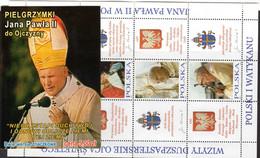 POLAND, POCZTA POLSKA 5 STAMPS BOOKLET - 2004 PILGRIMAGE - POPE JOHN PAUL II MINT NOT HINGED SOUVENIR R - Papes