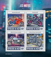NIGER 2019 - Motorcycles: Kawasaki, BMW, Harley-Davidson - YT 5354-7, CV=19 € - Motorbikes
