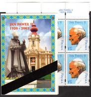 POLAND, POCZTA POLSKA 6 STAMPS BOOKLET - 2006 IN MEMORIAM - POPE JOHN PAUL II MINT NOT HINGED SOUVENIR R - Papes