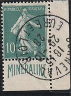 France N° 188 Minéraline   Oblitération Parfaitement Lisible RRR - Used Stamps