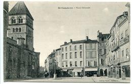 SAINT GAUDENS Place Nationale ( Eglise Boutiques Draperies Chaussures Au Fond ) - Saint Gaudens
