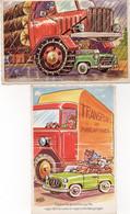 """Lot De 2 Cartes Illustrateur Bozz """" Les Routiers Sont Sympas """" Camion - Vrachtwagens En LGV"""
