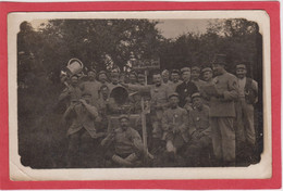 Carte-photo. Soldats. Premier Régiment Du Génie. Phonographe. - Zu Identifizieren