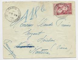 FRANCE RICHELIEU 1FR50 SEUL PNEUMATIQUE PARIS 114 17.VII.1935 AU TARIF - 1921-1960: Periodo Moderno
