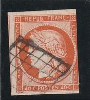 France N 5 - 40 Centimes Touche Sur Un Coté Mais Belle Présentation - 1849-1850 Ceres