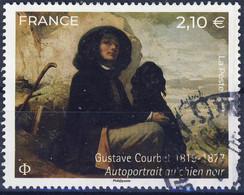 5333 AUTOPORTAIT Tableau De COURBET   OBLITERE ANNEE 2019 CACHET ROND - Used Stamps