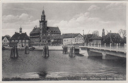 8566) LEER - Rathaus Und Neue Brücke - Tolle DETAIL AK - Alt ! 1940 - Leer