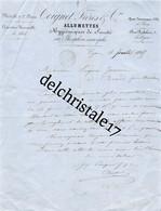 69 0600 LYON RHÔNE 1865 Allumettes Hygièniques De Sûreté Phosphore Amorphe COIGNET Frères & Cie Rue Rabelais à JANNIN - 1800 – 1899