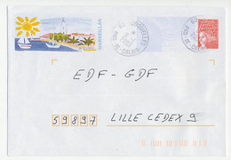 Postal Stationery / PAP France 2003 Lighthouse - Sun - Sailing Boat - Lighthouses