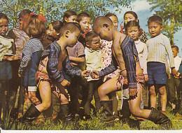 97822- MONGOLIAN CHILDRENS, PLAYING, BOXING - Mongolia