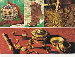 97824- MONGOLIAN TRADITIONAL HANDICRAFT ITEMS, HAT, BOOTS - Mongolia