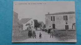17 : CHERVETTES : RUE Du CHATEAU Et La PLACE , ( Photo D'une Carte Postale ) , C.P.A. , En Bon état - Otros Municipios