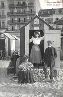 Heist - Heyst -  Avant Le Bain (cabines Animation Carte Lux 1908) - Heist