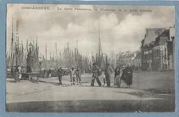 29 - CONCARNEAU - Quai Penanron, La Fontaine Et Le Petit Bassin - Animée - Concarneau