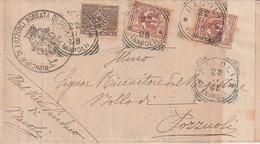A81. Bacoli 1908.   Annullo Tondo Riquadrato BACOLI (NAPOLI), Su Lettera. Timbro MUNICIPIO DI POZZUOLI BORGATA DI BACOLI - Marcophilia