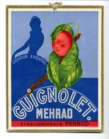 Bistrot / Carton Publicitaire Guignolet Mehrad / Etablissements Pernod - Posters