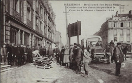 CHARLEVILLE --MEZIERES - Bd Des Deux Villes-- Confection Des Chevalets Pendant La Crue De La Meuse- CARTE TOMBOLA - Charleville