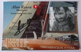 Alan ROURA - Dédicace - Autographe Authentique - Signé - Zeilen