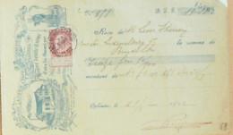 Effet De Commerce LAITERIE Ste GENEVIEVE Et Léon THIENON-Oplinter 1902 Belgique - Bills Of Exchange